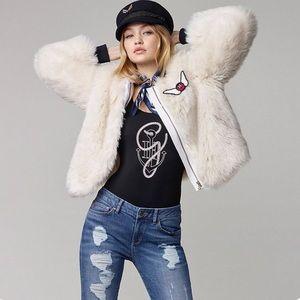 Tommy Hilfiger Faux Fur Bomber Jacket Gigi Hadid